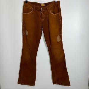 Vintage Antik Denim Corduroy Jeans Brown Size 29